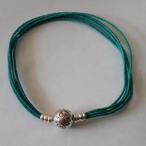 Pandora Teal Multistrand Bracelet